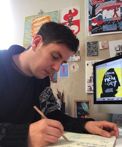 Paddy Lynch in his studio.